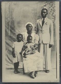 George Q. Chei and his family, copied by Elliott & Fry - NPG x100955