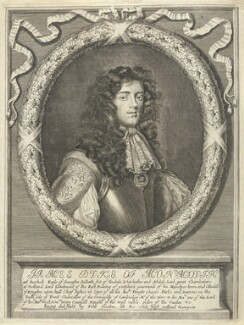 James Scott, Duke of Monmouth and Buccleuch, by William Faithorne, published by  John Overton, after  William Sheppard - NPG D22955
