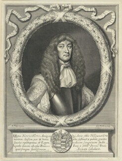 Sir Henry Terne, by William Faithorne, published by  John Overton, after  William Sheppard - NPG D22956