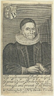 James Ussher, by William Faithorne, published by  Theodore Crowley - NPG D22960