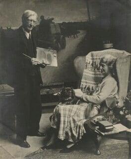 Stanhope Alexander Forbes; Maude Clayton ('Maudie') Forbes (née Palmer), by Felix H. Man - NPG x68229