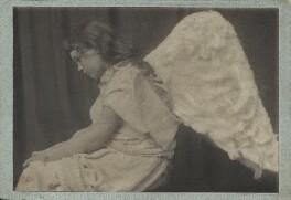 Gladys Millais Mulock Holman Hunt (Mrs Michael Joseph) as an angel, by Frederick Hollyer - NPG x76668