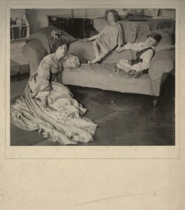 Helen Maud Gamble (née Isherwood); Anthea Rosemary Carew (née Gamble); Patrick Henry Noel Gamble, by Cavendish Morton, 1913 - NPG x128814 - © National Portrait Gallery, London