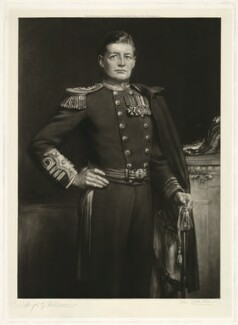 David Richard Beatty, 1st Earl Beatty, by John Cother Webb, after  Hugh Goldwin Riviere - NPG D23559