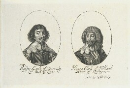 Robert Rich, 2nd Earl of Warwick; Henry Rich, 1st Earl of Holland, by William Faithorne, published by  Sir Robert Peake - NPG D22974