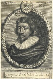 Georg Rudolph Weckherlin, by William Faithorne, after  Daniel Mytens - NPG D22979