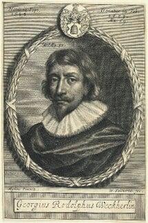 Georg Rudolph Weckherlin, by William Faithorne, after  Daniel Mytens - NPG D22980