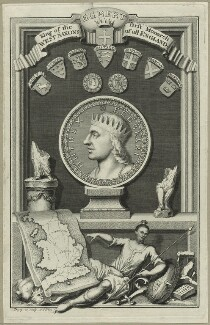 Egbert, King of the West Saxons, First Monarch of all England, by George Vertue - NPG D23567
