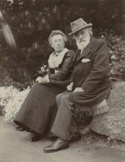 Frances Rosetta Legros (née Hodgson); Alphonse Legros, by Unknown photographer, 1900s - NPG x87225 - © National Portrait Gallery, London