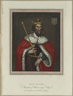 King Alfred ('The Great'), possibly by Rudolph Ackermann, early 19th century - NPG D23580 - © National Portrait Gallery, London