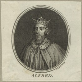 King Alfred ('The Great'), by Guillaume Philippe Benoist, mid 18th century - NPG D23583 - © National Portrait Gallery, London