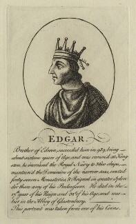 Edgar, King of England, after Unknown artist - NPG D23585