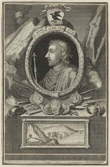 Canute, King of England, Denmark and Norway, by George Vertue - NPG D23588