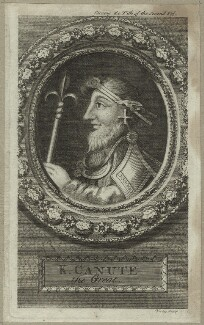 Canute, King of England, Denmark and Norway, by George Vertue - NPG D23591