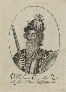 King William I ('the Conqueror'), possibly by William Faithorne, probably 17th century - NPG D23606 - © National Portrait Gallery, London