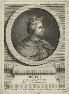 King Henry I, by Pierre François Basan, after  George Vertue - NPG D23617