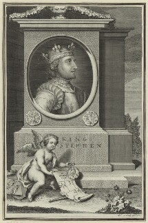 King Stephen, by George Vertue - NPG D23621