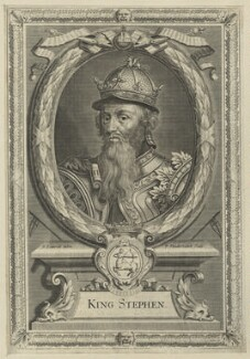 King Stephen, by Peter Vanderbank (Vandrebanc), after  Edward Lutterell (Luttrell), late 17th century - NPG D23622 - © National Portrait Gallery, London