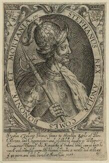 King Stephen, by Renold or Reginold Elstrack (Elstracke), 1638 - NPG D23623 - © National Portrait Gallery, London
