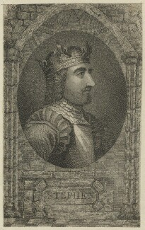 King Stephen, after Unknown artist, probably late 18th century - NPG D23624 - © National Portrait Gallery, London