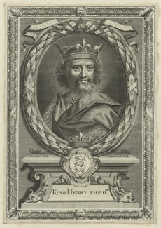 King Henry II, by Peter Vanderbank (Vandrebanc), after  Edward Lutterell (Luttrell) - NPG D23628