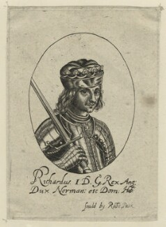 King Richard I ('the Lionheart'), possibly by William Faithorne, probably 17th century - NPG D23633 - © National Portrait Gallery, London