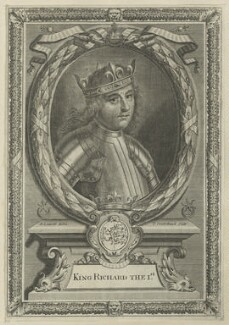 King Richard I ('the Lionheart'), by Peter Vanderbank (Vandrebanc), after  Edward Lutterell (Luttrell) - NPG D23637