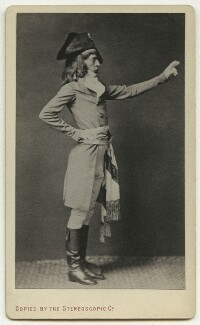 Frederick Walker in Directoire dress, copied by London Stereoscopic & Photographic Company - NPG x13281