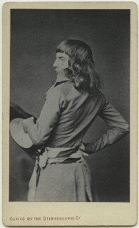 Frederick Walker in Directoire dress, copied by London Stereoscopic & Photographic Company - NPG x13282