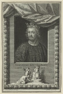 King John, by George Vertue, mid 18th century - NPG D23642 - © National Portrait Gallery, London
