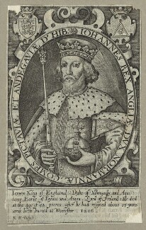 King John, by Renold or Reginold Elstrack (Elstracke), 1618 - NPG D23644 - © National Portrait Gallery, London