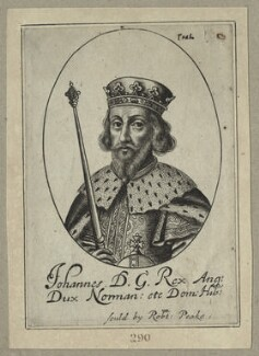 King John, possibly by William Faithorne, probably 17th century - NPG D23645 - © National Portrait Gallery, London