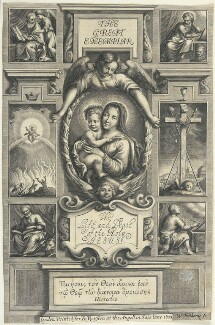 Title-page to 'The Great Exemplar of Sanctity and Holy Life according to the Christian Institution', by William Faithorne, published by  Richard Royston - NPG D22999