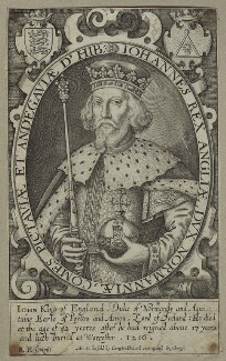 King John, by Renold or Reginold Elstrack (Elstracke), 1618 - NPG D23649 - © National Portrait Gallery, London