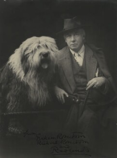 Walford Graham Robertson with his dog Richard Robertson, by John Henry Muddle - NPG x22063