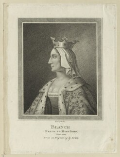 Blanche of Castille, by Thomas Trotter, after  de Bie - NPG D23652