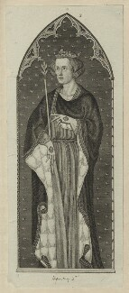 King Edward I, by Unknown printer, probably after  Thomas of Westminster - NPG D23655