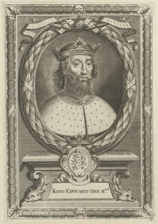 King Edward II, by Peter Vanderbank (Vandrebanc), after  Edward Lutterell (Luttrell) - NPG D23685