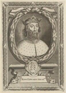 King Edward II, by Peter Vanderbank (Vandrebanc), after  Edward Lutterell (Luttrell), 1706 - NPG D23685 - © National Portrait Gallery, London