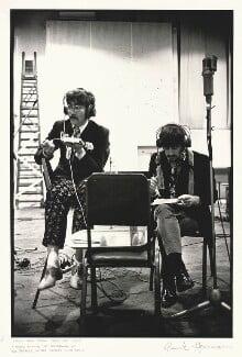 John Lennon; Ringo Starr, by Frank Herrmann - NPG x128869