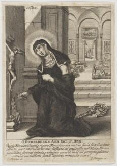 St Ethelburga, by Gabriel Ehinger, after  Jesaias Fisches - NPG D23687