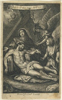 Lamentation, by William Faithorne, published by  Samuel Lowndes, after  Sir Anthony van Dyck - NPG D23002