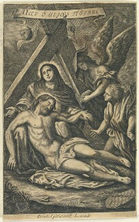 Lamentation, by William Faithorne, published by  Samuel Lowndes, after  Sir Anthony van Dyck - NPG D23003