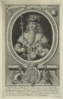 King Edward III, possibly by Robert White, late 17th century - NPG D23696 - © National Portrait Gallery, London