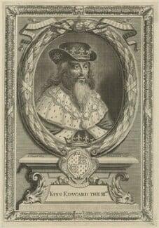 King Edward III, by Peter Vanderbank (Vandrebanc), after  Edward Lutterell (Luttrell) - NPG D23701