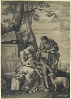 A Holy Family, by William Faithorne, after  Laurent de la Hyre - NPG D23008