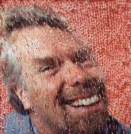 Sir Richard Branson, by David Mach, 1999 - NPG 6494 - © National Portrait Gallery, London