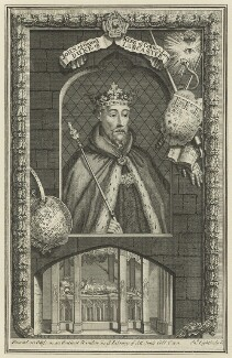 John of Gaunt, by John Lightbody, after  George Vertue - NPG D23710