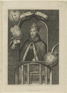 John of Gaunt, by Samuel Freeman, published by  Fisher Son & Co, after  George Vertue - NPG D23711