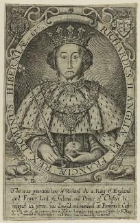 King Richard II, by Renold or Reginold Elstrack (Elstracke), 1638 - NPG D23717 - © National Portrait Gallery, London